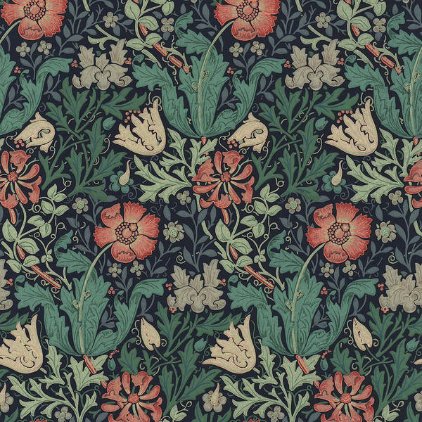 Victorian Garden Wall Art - Painting - Compton by William Morris