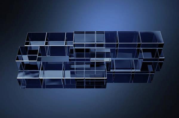 Wall Art - Digital Art - Concept Cryptocurrency Blockchain Data On A Dark Background by Allan Swart