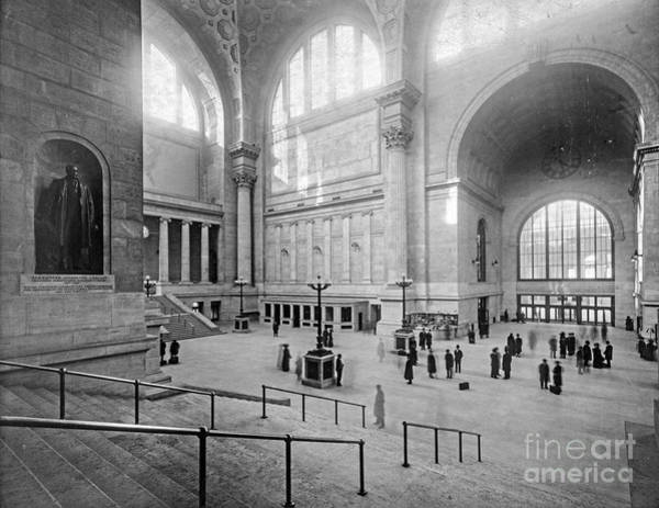 Photograph - Concourse Pennsylvania Station New York by Russell Brown