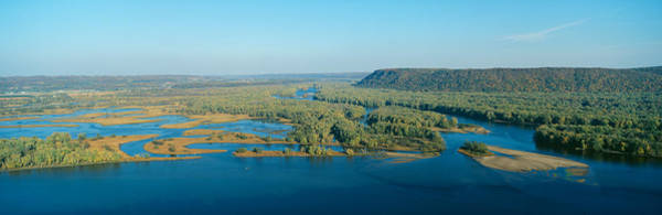 Landforms Photograph - Confluence Of Mississippi And Wisconsin by Panoramic Images
