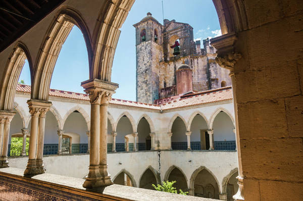Cloister Photograph - Convent Of Christ In Tomar by Carlos Caetano