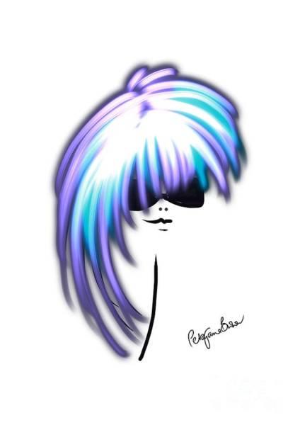 Hairdo Digital Art - Cool Blue by Peta Brown