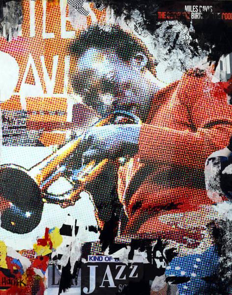 Trumpet Mixed Media - Cool Jazz by James Hudek