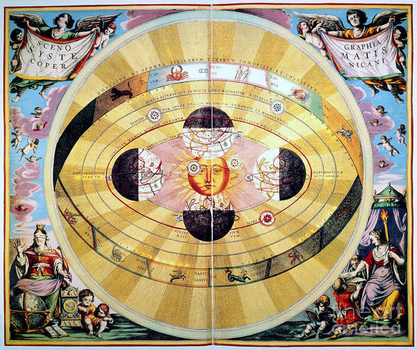 Photograph - Copernican Universe, 1660 by Granger