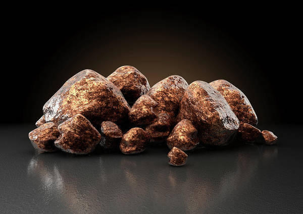 Wall Art - Digital Art - Copper Nugget Collection by Allan Swart