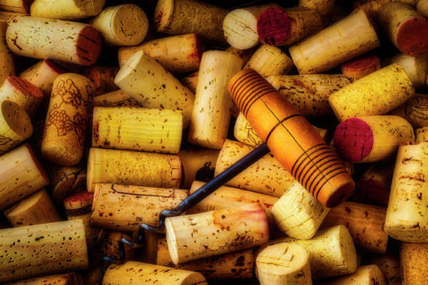 Wall Art - Photograph - Corkscrew And Wine Corks by Garry Gay