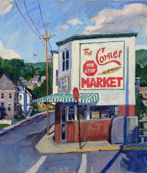 Painting - Corner Market by Thor Wickstrom