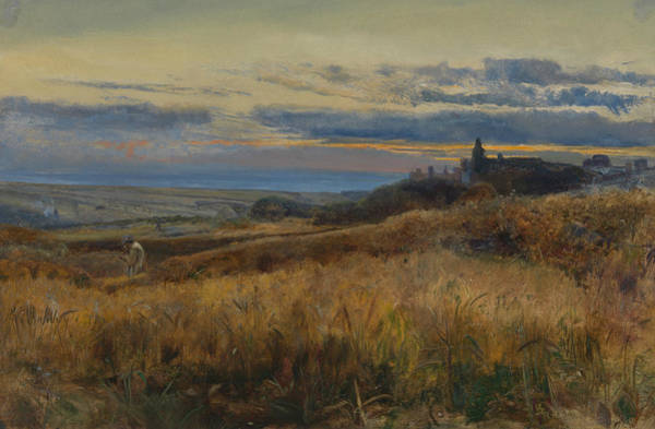 Wall Art - Painting - Cornfield At Sunset by John William Inchbold