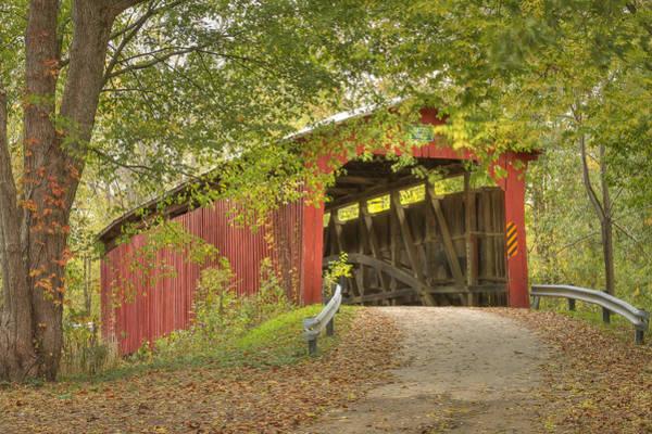 Photograph - Cornstalk Covered Bridge by Jack R Perry