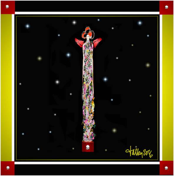 Digital Art - Cosmic Geisha - Starsailing by Larry Talley
