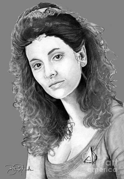 Drawing - Counselor Deanna Troi by Bill Richards