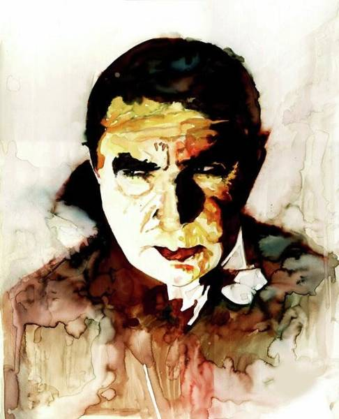 Zombie Cat Painting - Count Dracula - Bela Lugosi by Marcelo Neira