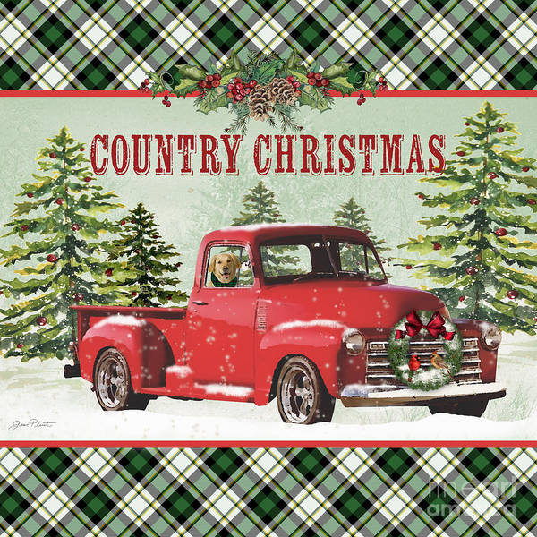Wall Art - Painting - Country Christmas-jp3674 by Jean Plout