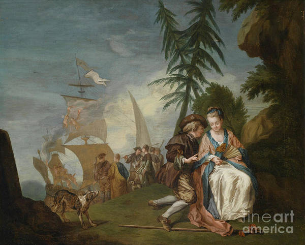 1781 Painting - Courtship by Celestial Images