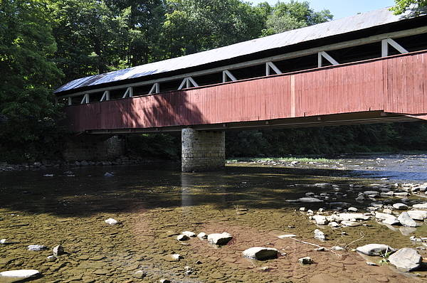 Somerset County Photograph - Covered Bridge by Penny Neimiller