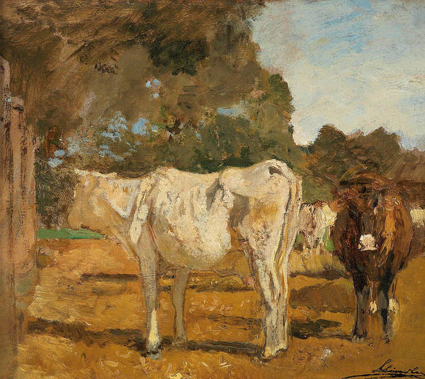 Painting - Cows by Emil Jakob Schindler