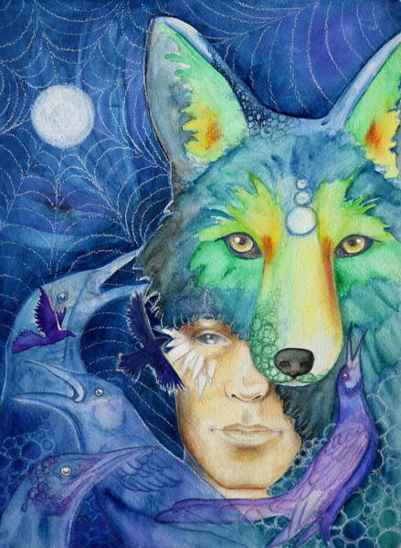 Wall Art - Painting - Coyote Son by Kimberly Kirk