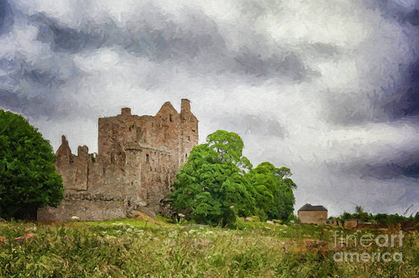 Wall Art - Digital Art - Craigmillar Castle Digital Painting by Antony McAulay