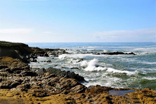 Wall Art - Photograph - Crashing Waves Moonstone Beach by Barbara Snyder