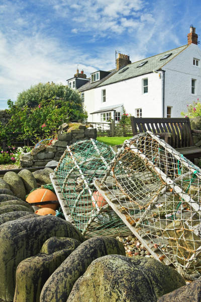 Northumbria Photograph - Craster Lobster Pots by David Taylor