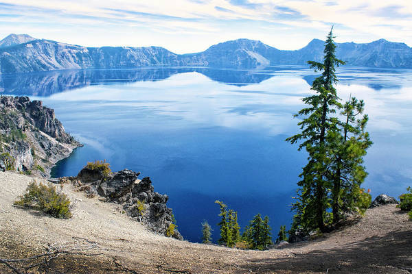 Photograph - Crater Lake From The West Rim by Frank Wilson