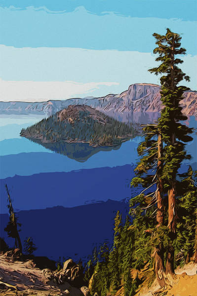 Painting - Crater Lake, Oregon by Andrea Mazzocchetti