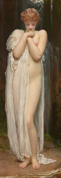 Wall Art - Painting - Crenaia, The Nymph Of The Dargle by Frederic Leighton