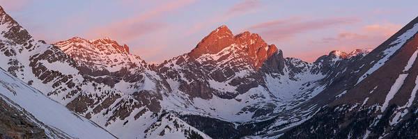 Fourteener Photograph - Crestone Sunrise Panorama by Aaron Spong