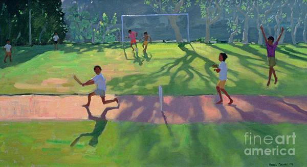 India Painting - Cricket Sri Lanka by Andrew Macara