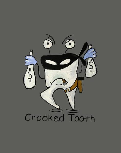 T-shirts Painting - Crooked Tooth by Anthony Falbo
