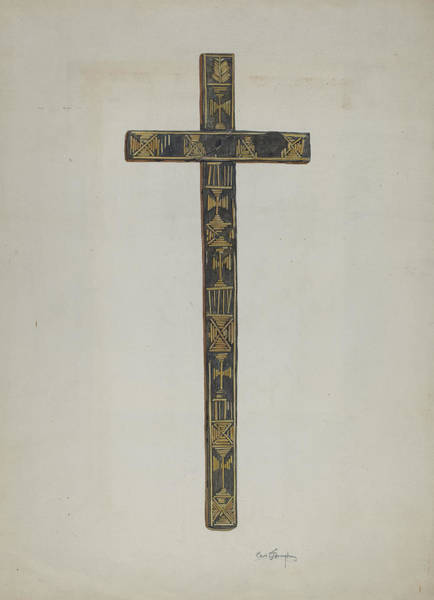Wall Art - Drawing - Cross by Carl O'bergh