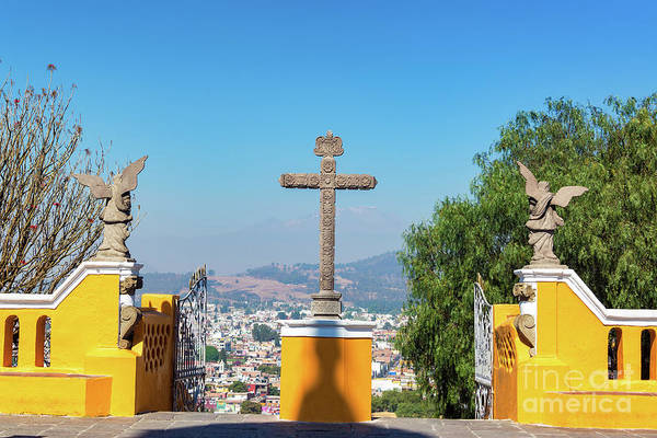 Wall Art - Photograph - Cross In Cholula, Mexico by Jess Kraft