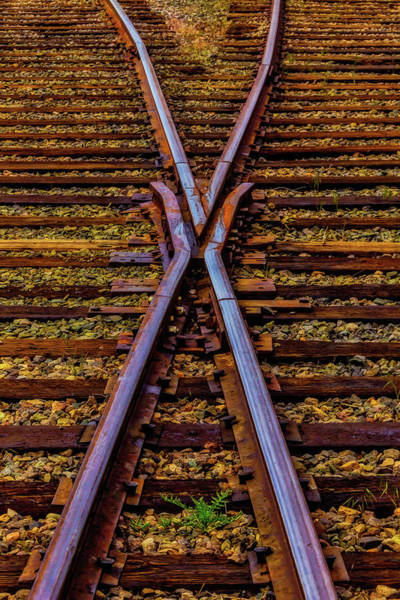 Railroad Tie Wall Art - Photograph - Cross Tracks by Garry Gay