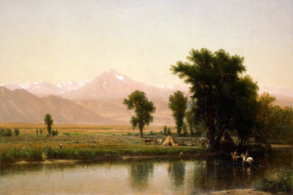 Wall Art - Painting - Crossing The River Platte by Worthington Whittredge