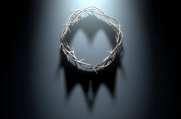 Crucifixion Digital Art - Crown Of Thorns With Royal Shadow by Allan Swart