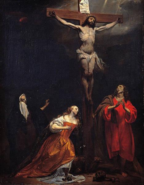 Gabriel Painting - Crucifixion by Gabriel Metsu