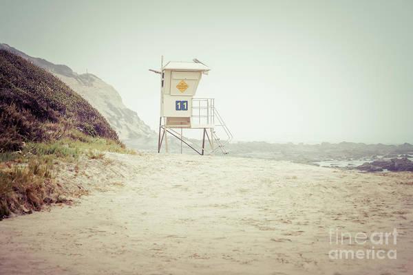 Crystal Coast Photograph - Crystal Cove Lifeguard Tower #11 In Laguna Beach by Paul Velgos