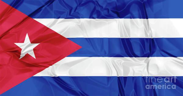Digital Art - Cuba Flag by Benny Marty