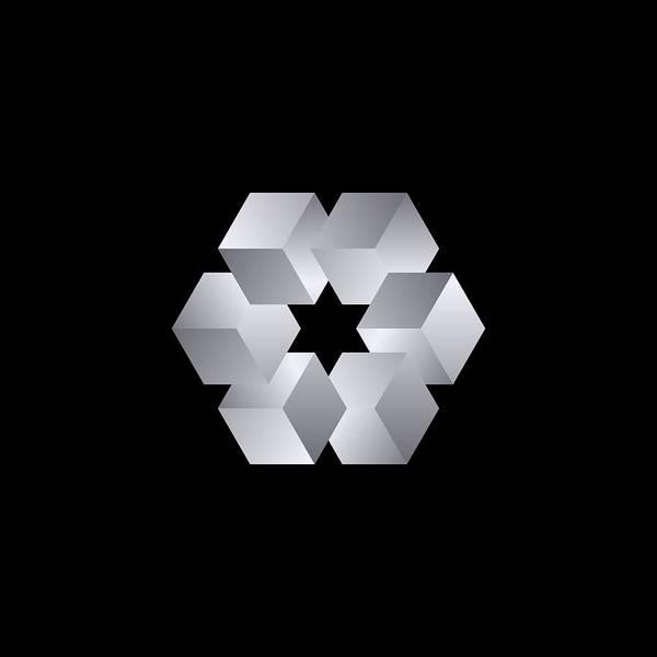 Digital Image Digital Art - Cube Star by Pelo Blanco Photo
