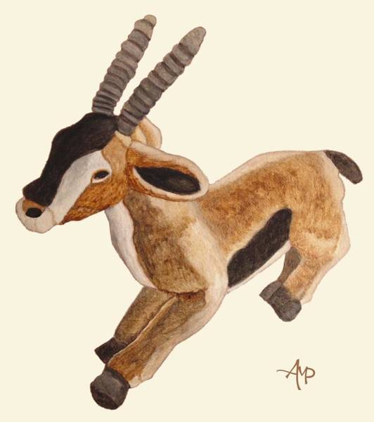 Painting - Cuddly Gazelle by Angeles M Pomata