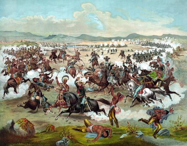 American Indians Painting - Custer's Last Stand by War Is Hell Store
