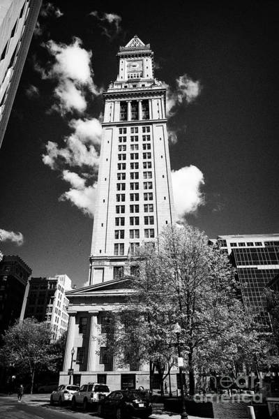 Wall Art - Photograph - custom house tower building Boston USA by Joe Fox
