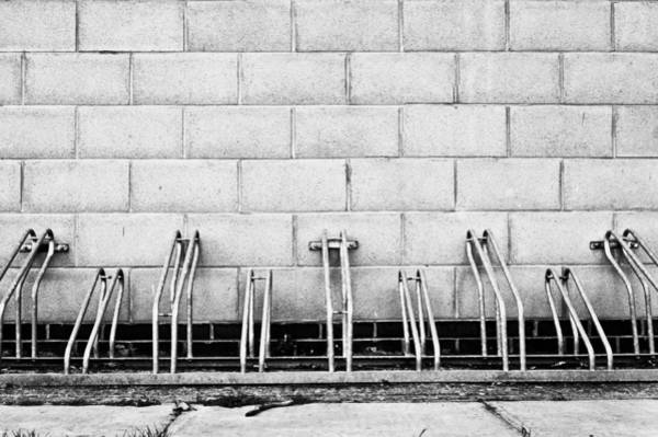 Bicycle Rack Photograph - Cycle Racks by Tom Gowanlock
