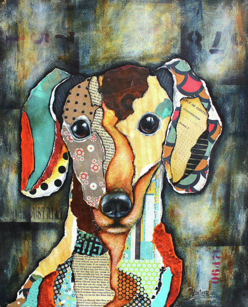 Art Paper Mixed Media - Dachshund by Patricia Lintner