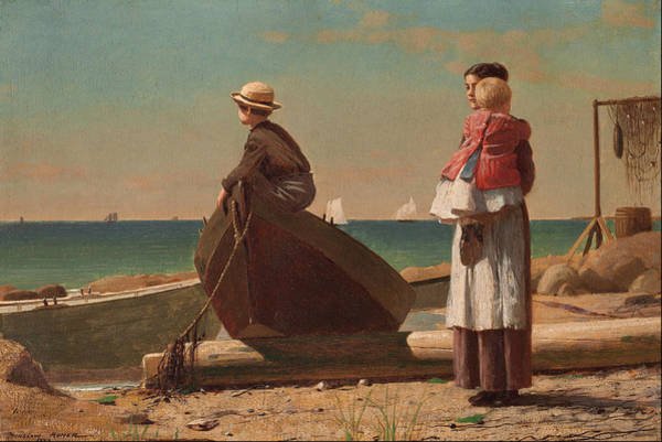 Wall Art - Painting - Dad's Coming by Winslow Homer