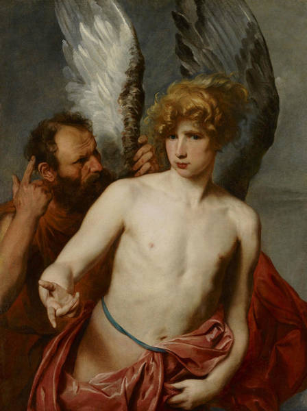 Painting - Daedalus And Icarus by Anthony van Dyck