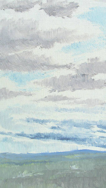 Painting - Dagrar Over Salenfjallen- Shifting Daylight Over Distant Horizon 9 Of 10_0029 by Marica Ohlsson