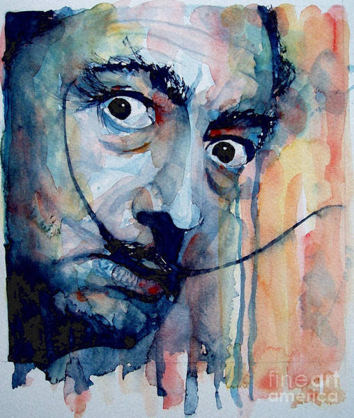 Artist Painting - Dali by Paul Lovering