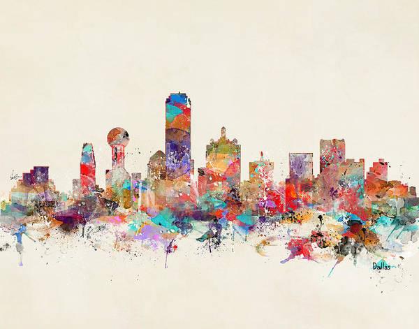 Throws Painting - Dallas Texas by Bri Buckley