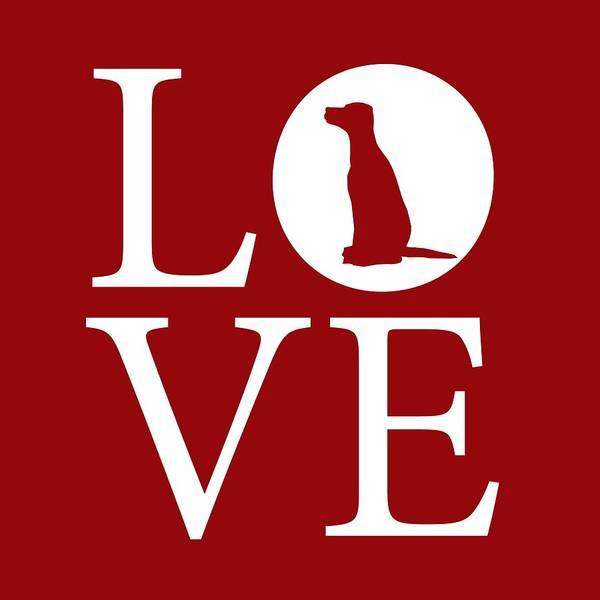 Digital Art - Dalmatian Love Red by Nancy Ingersoll